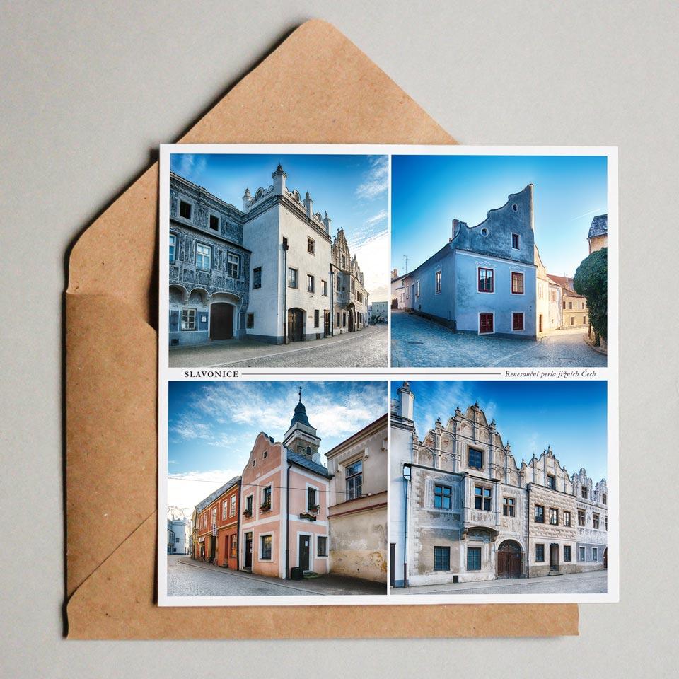 mesto slavonice pohlednice